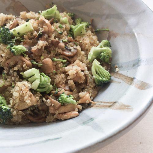 vegan quinoa dish